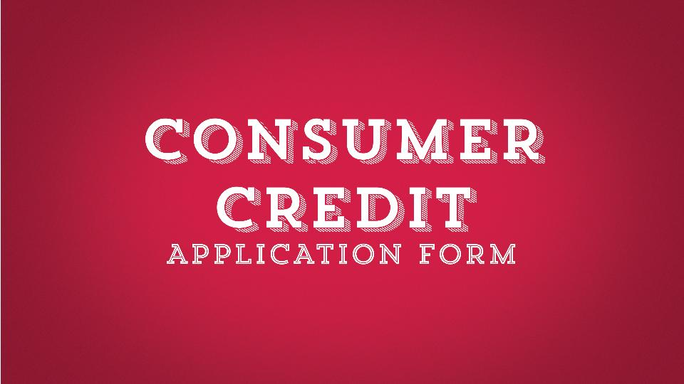consumer credit application form
